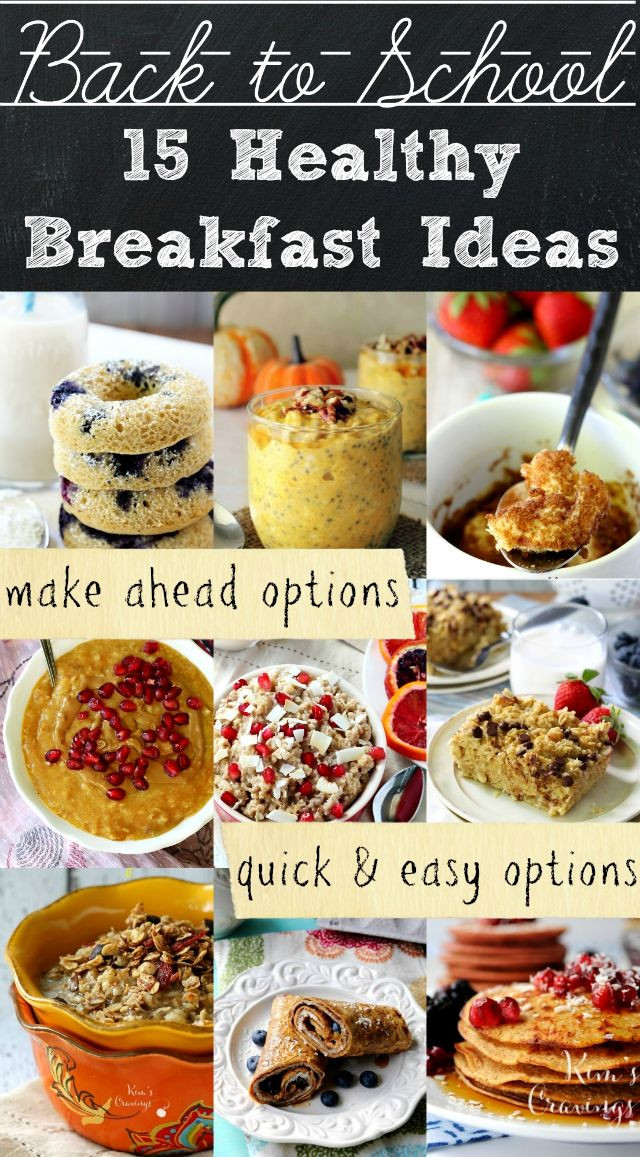 Healthy Make Ahead Breakfast Recipes  Healthy Back to School Breakfast Ideas