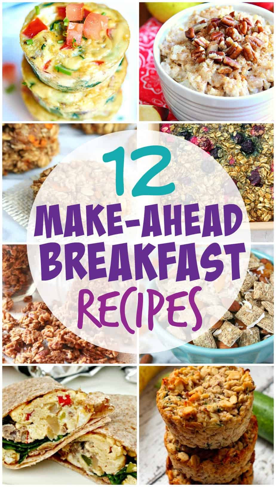 Healthy Make Ahead Breakfast Recipes  Easy and Healthy Make Ahead Breakfast Recipes for the