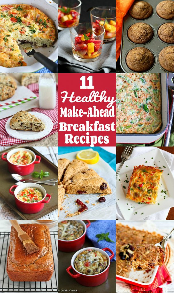 Healthy Make Ahead Breakfast Recipes  11 Healthy Make Ahead Breakfast Recipes Cookin Canuck