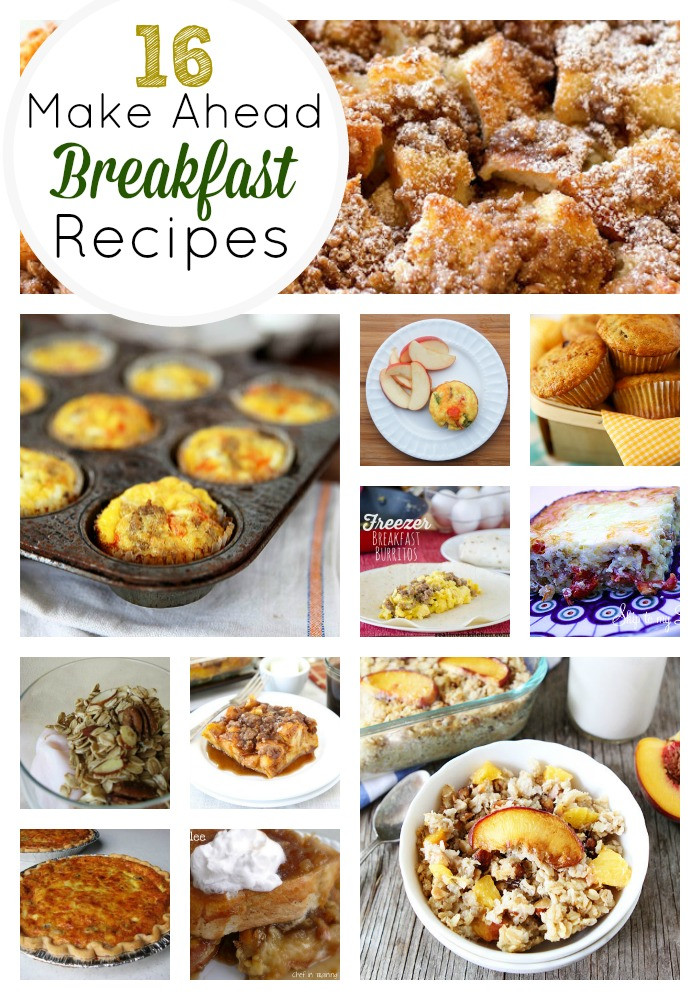 Healthy Make Ahead Breakfast Recipes  16 Amazing Make Ahead Breakfast Recipes
