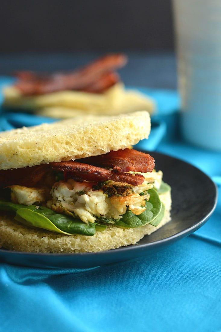 Healthy No Carb Breakfast  Low Carb Breakfast Sandwich Paleo GF Keto Skinny
