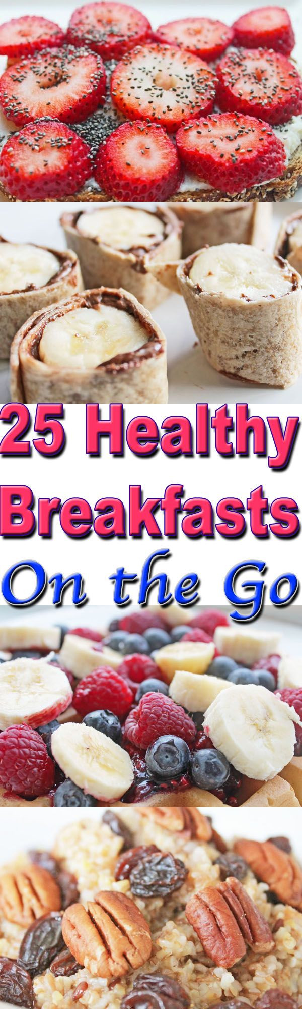 Healthy On The Go Breakfast  healthy breakfasts on the go collage 1
