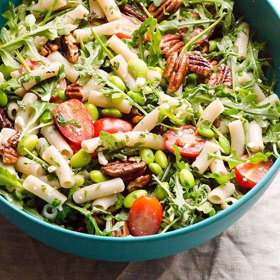 Healthy Pasta Salad  Healthy Pasta Salad with Feta Tomatoes and Pecans