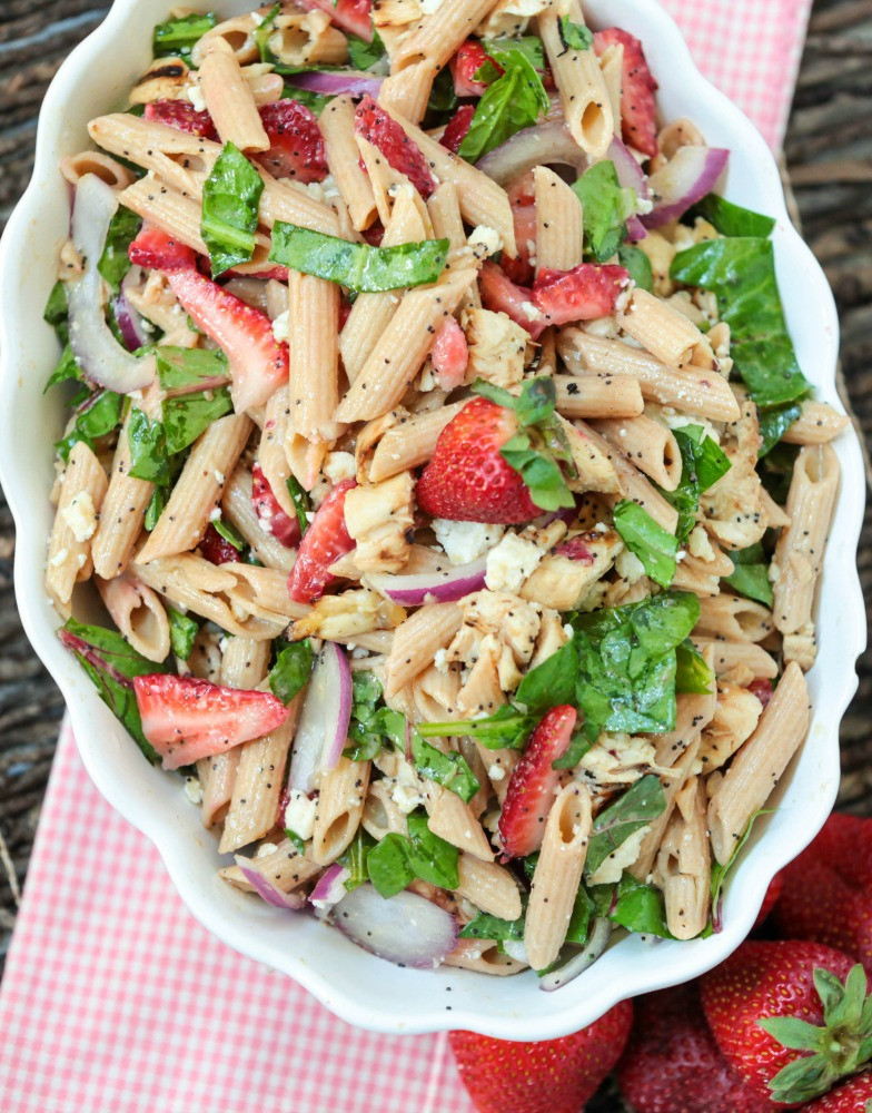 Healthy Pasta Salad  Healthy Pasta Salad with Strawberry Poppy Seeds and