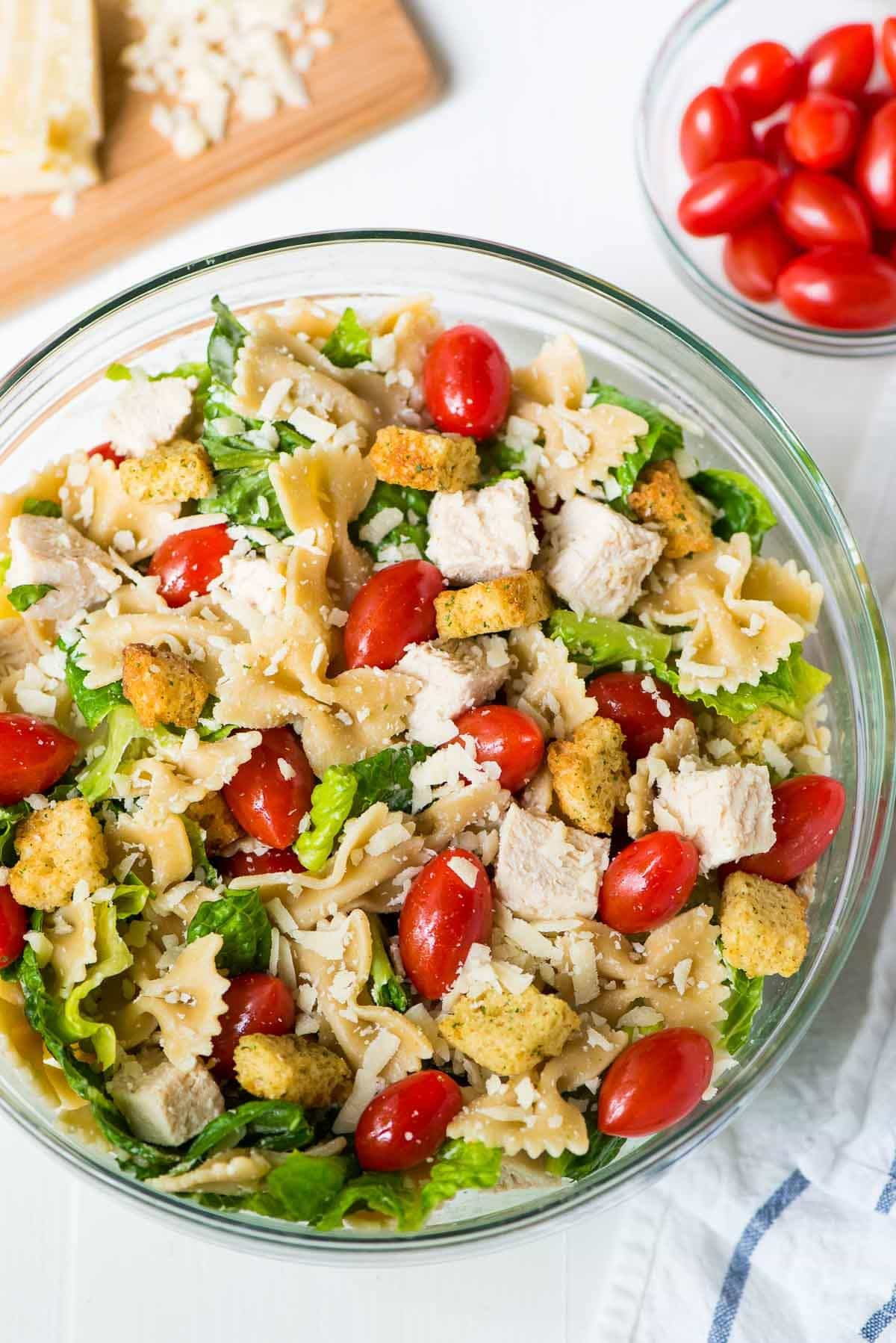 Healthy Pasta Salad  Asian Noodle Salad with Creamy Peanut Dressing