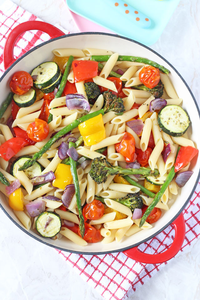 Healthy Pasta Salad  Roasted Ve able Pasta Salad