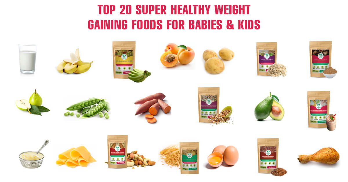 Healthy Snacks For Weight Gain  Top 20 Super Healthy Weight Gain Foods for babies & kids