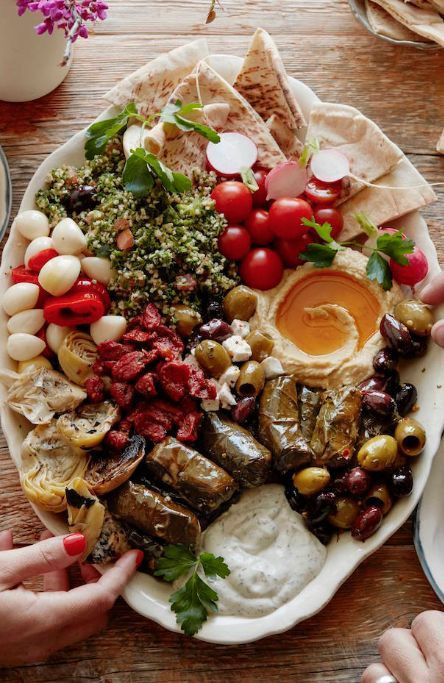 Healthy Vegetarian Appetizers  Ve arian Mezze Platter Recipe