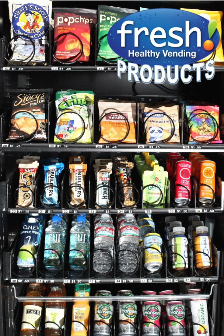 Healthy Vending Machine Snacks  Pin by Fresh Healthy Vending on In The News
