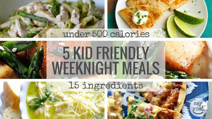 Healthy Weeknight Dinners  5 kid friendly easy spring weeknight dinners under 500