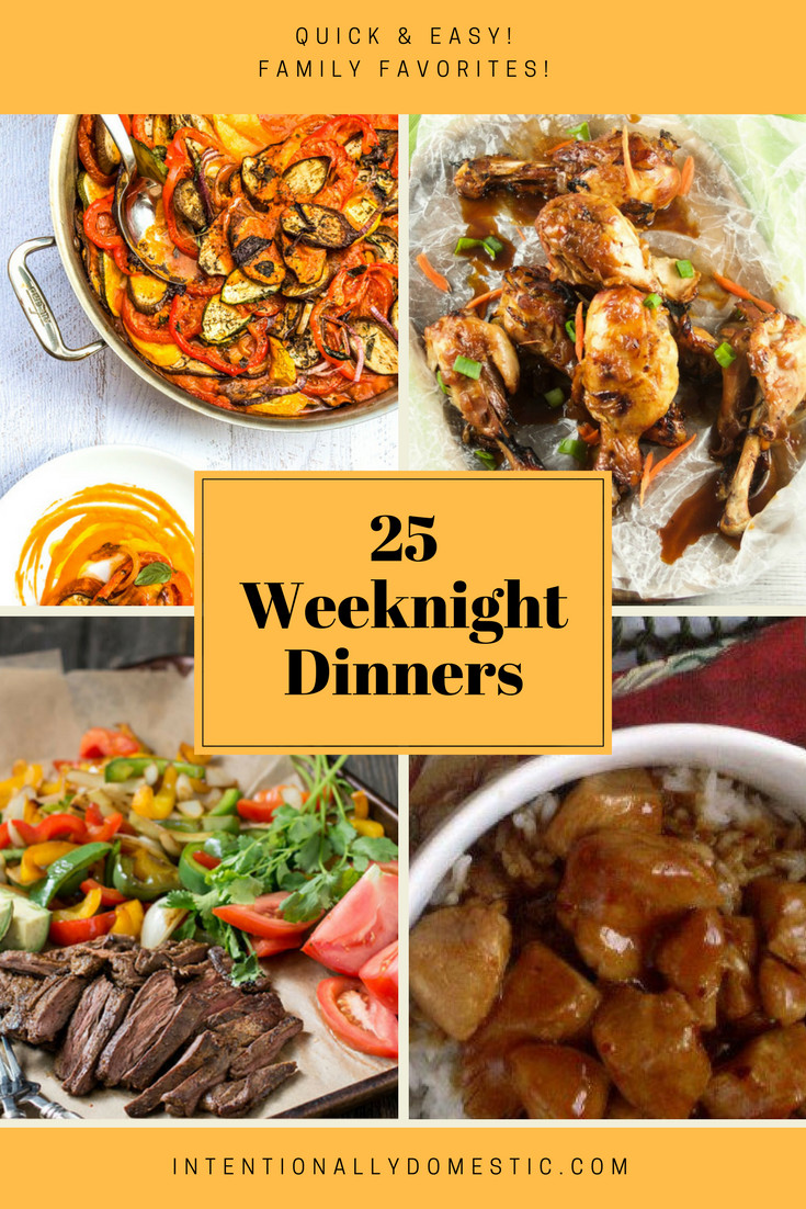 Healthy Weeknight Dinners  25 Quick and Easy Weeknight Dinners
