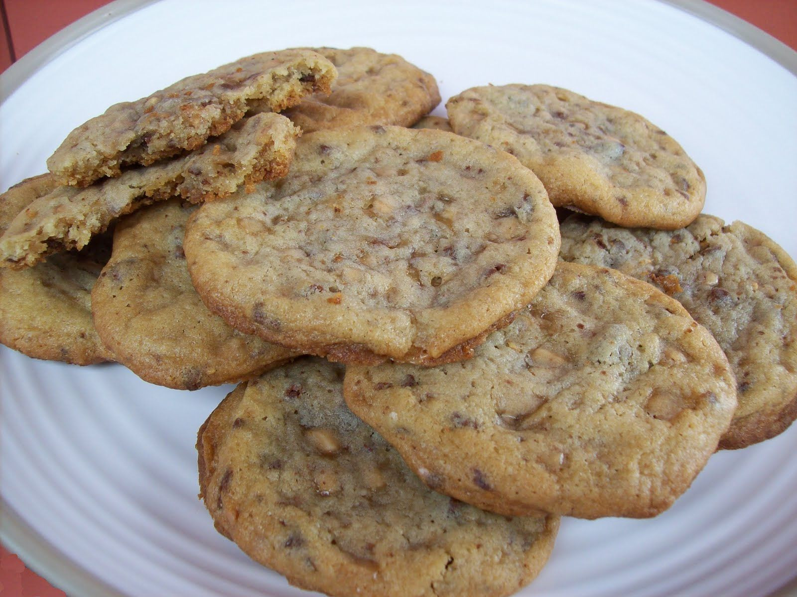 Heath Bar Cookies  Soft & Chewy Heath Bar Cookies Cookies