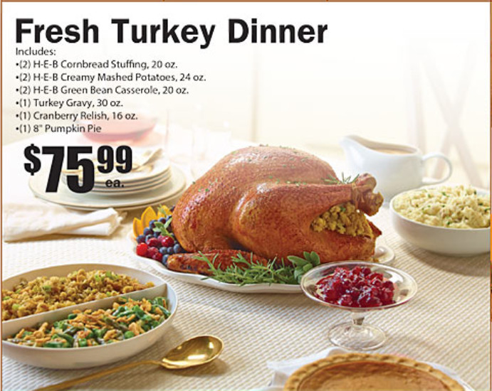 Heb Thanksgiving Dinner  Heb Turkey Meal Deal