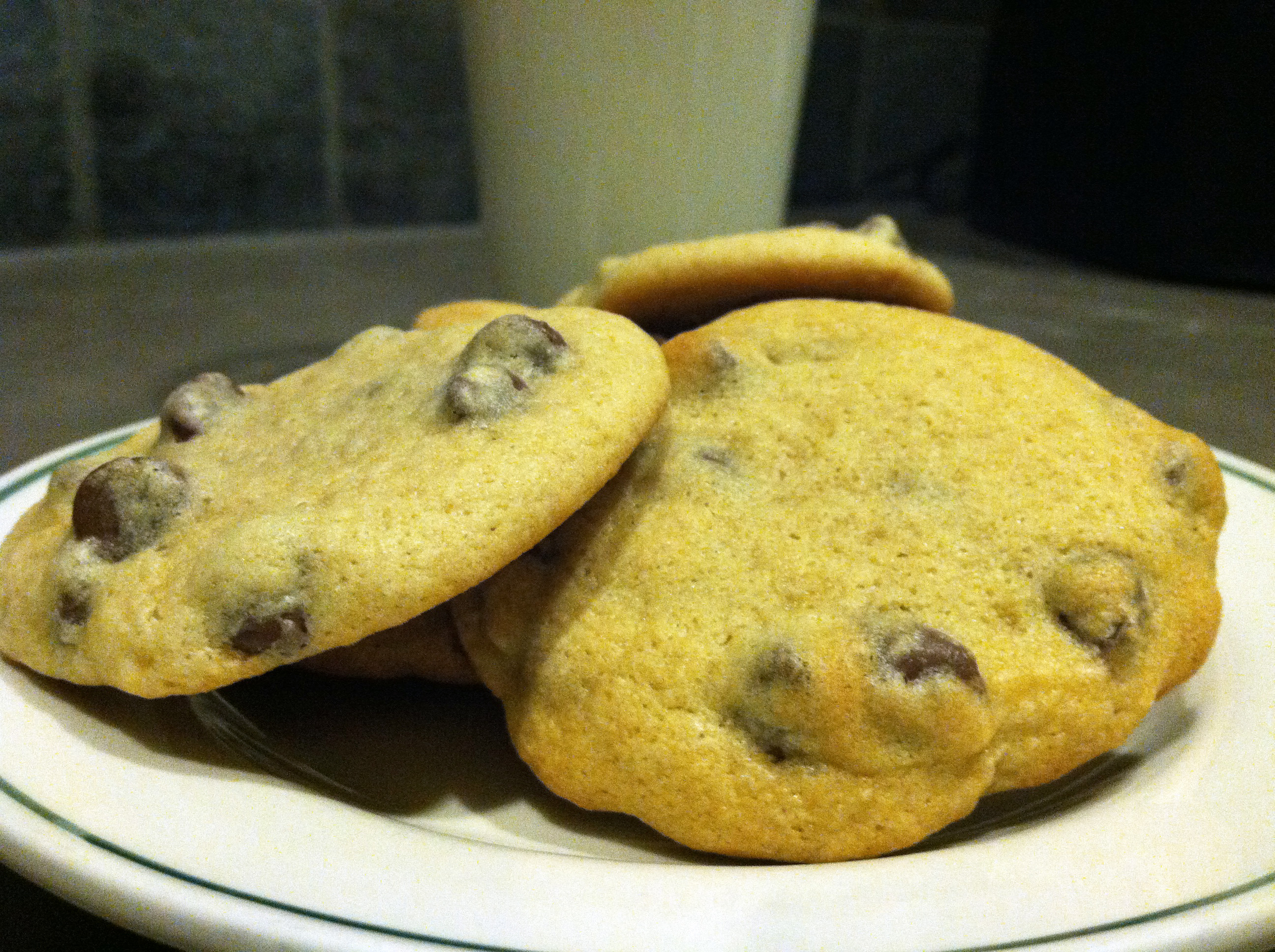 High Altitude Chocolate Chip Cookies  Chocolate chip cookies fit for a high altitude king