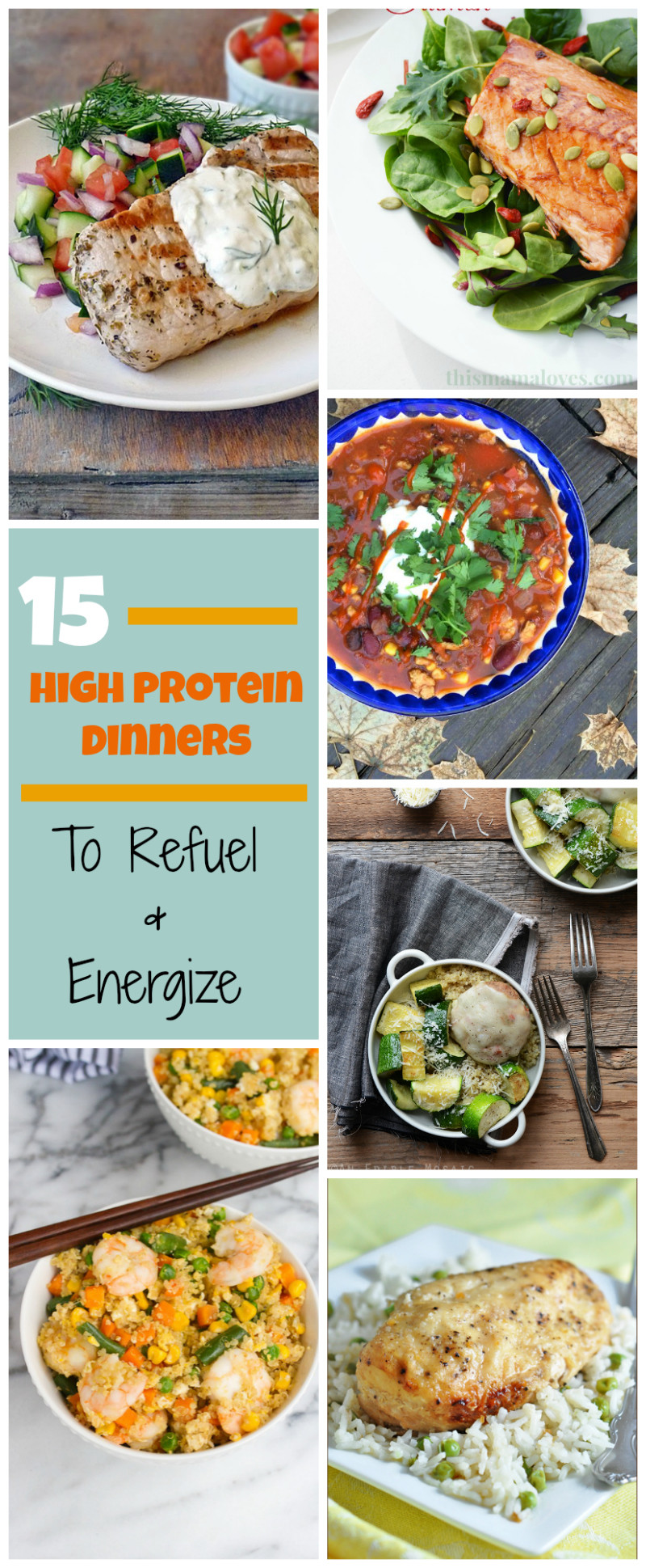 High Protein Dinner Recipes  15 High Protein Dinner Recipes Getting Lean & Losing Weight