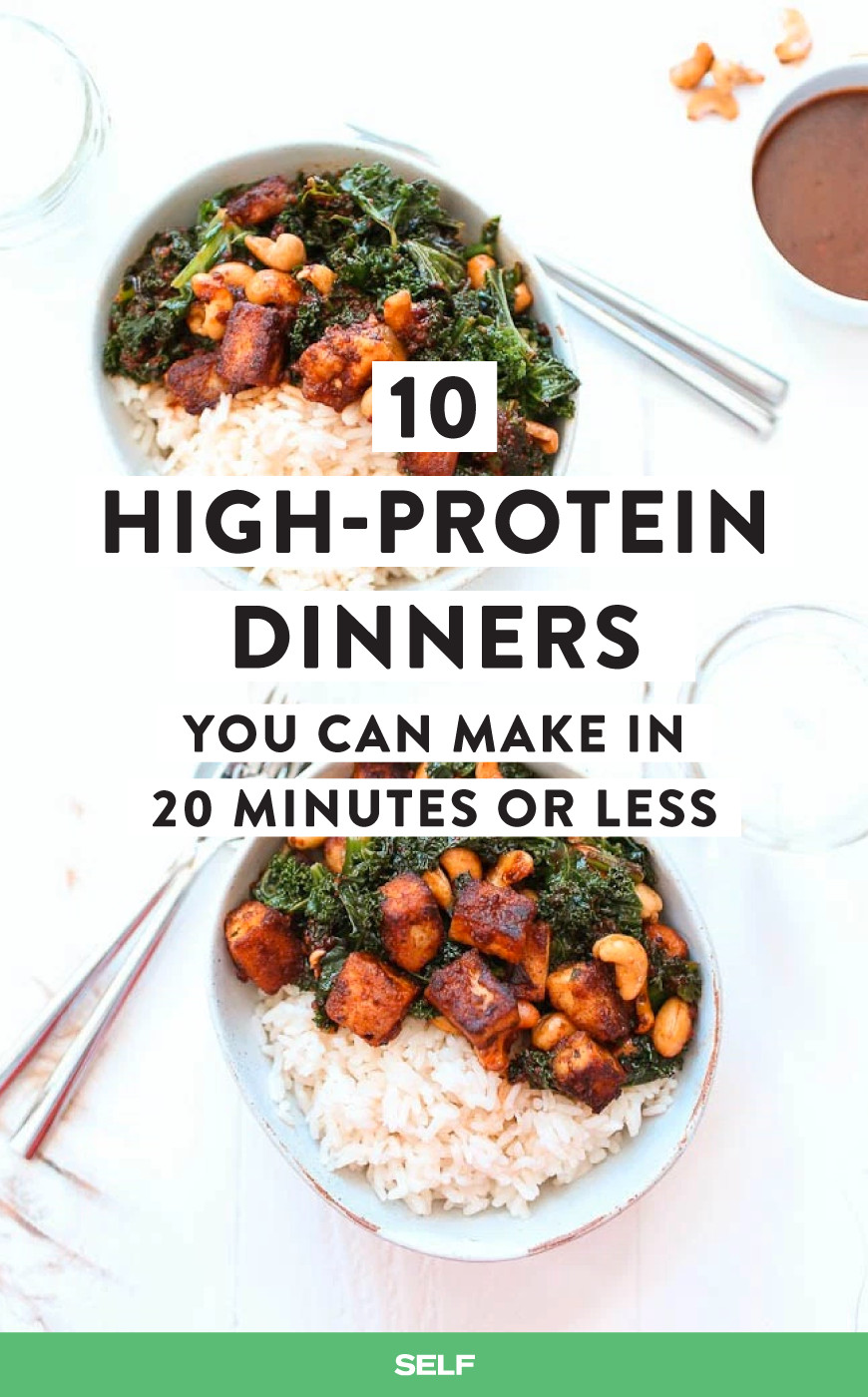 High Protein Dinner Recipes  10 High Protein Dinners You Can Make In 20 Minutes Less