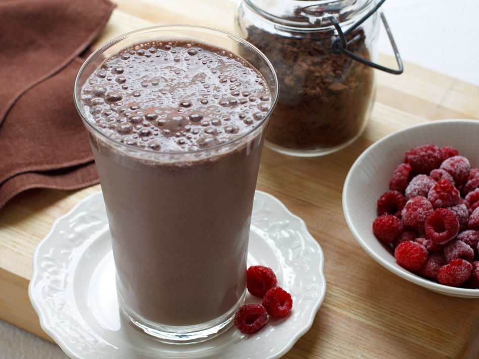 High Protein Smoothies  High Protein Chocolate Raspberry Smoothie