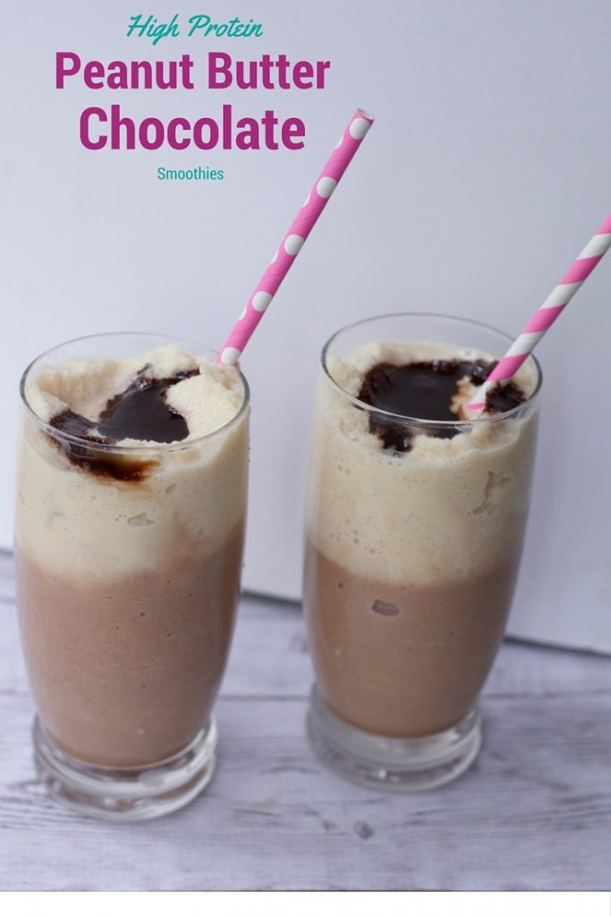 High Protein Smoothies  Chocolate peanut butter high protein smoothie recipe
