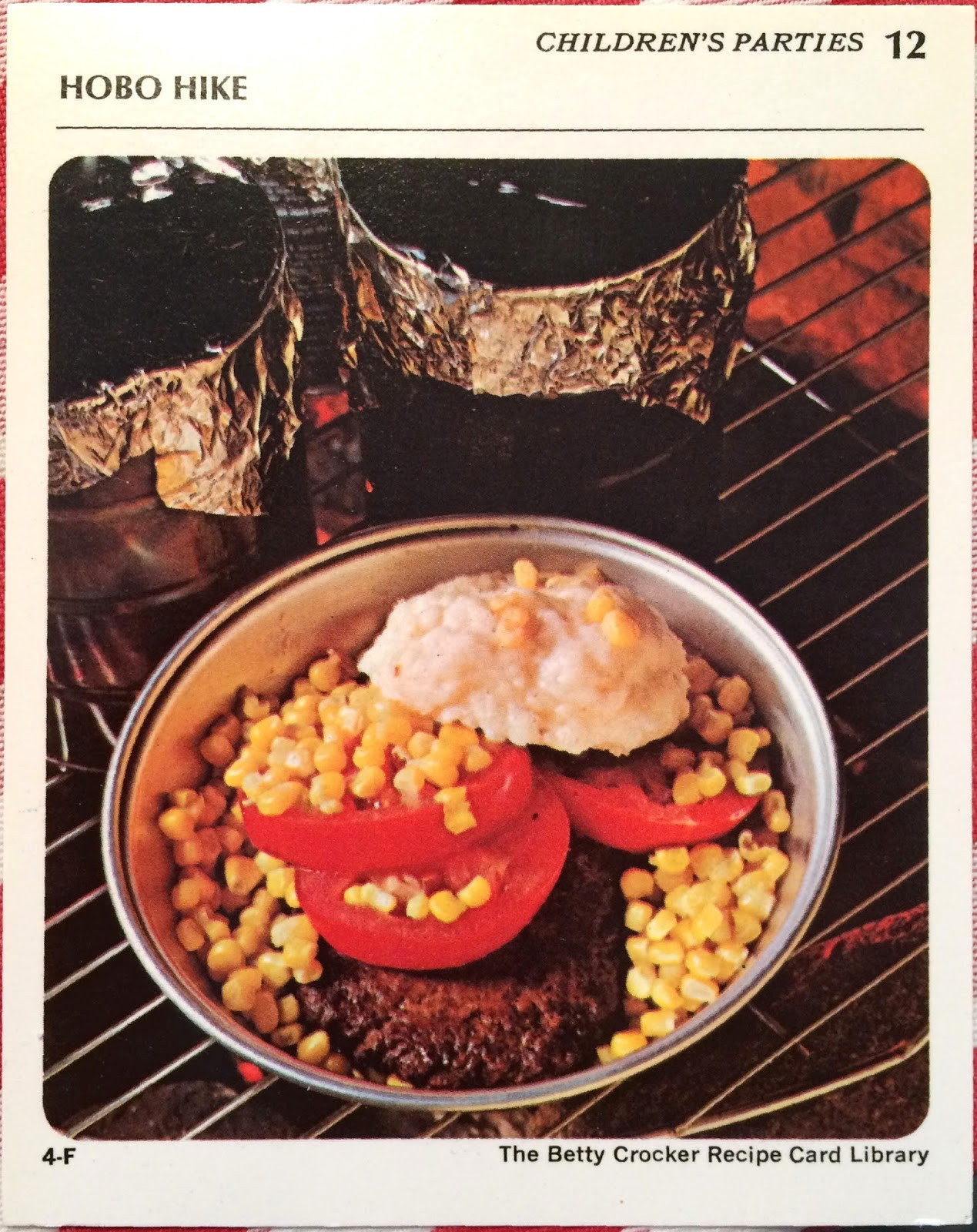 Hobo Dinner Camping  Real Family Camping Retro Camping Recipe Hobo Dinners