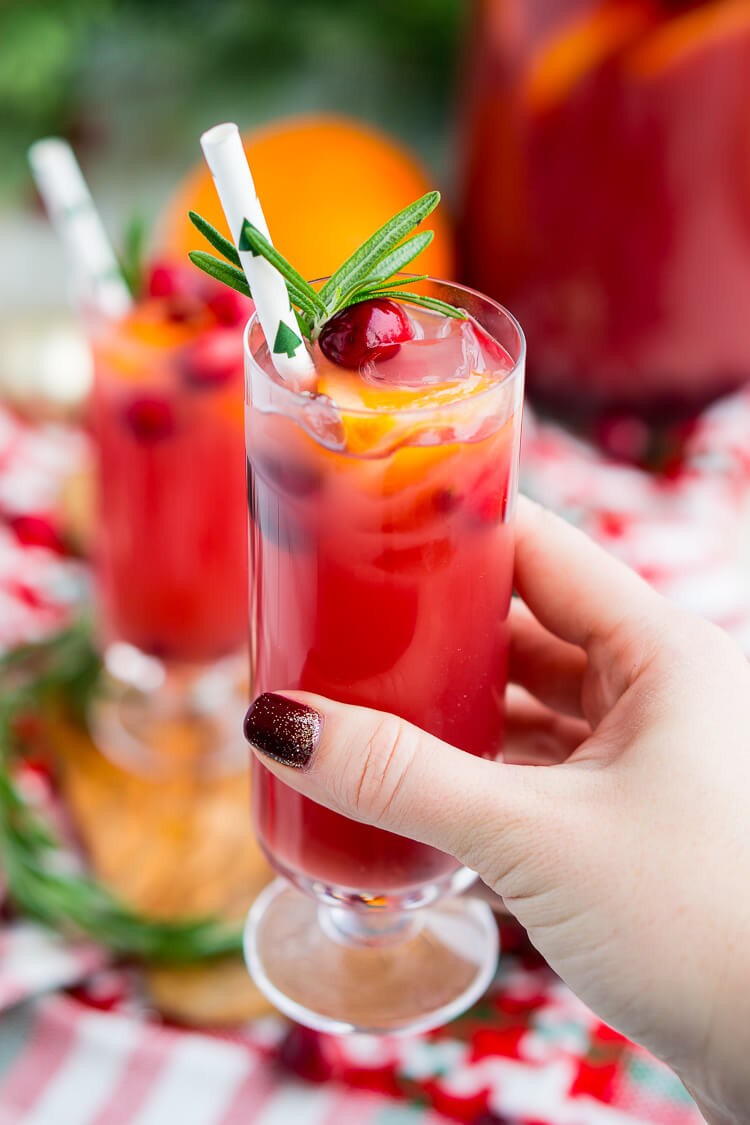 Holiday Drinks With Vodka  Christmas Punch Boozy or Not Recipe Sugar & Soul