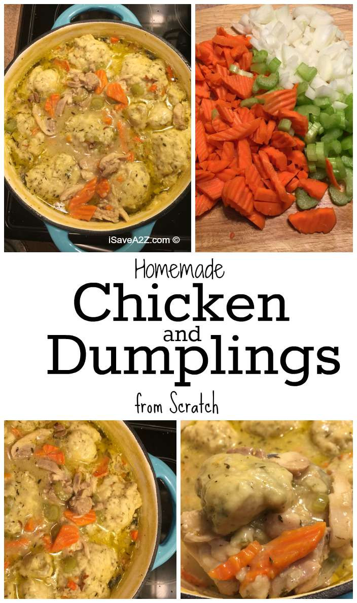 Homemade Chicken And Dumplings  Homemade Chicken and Dumplings from Scratch iSaveA2Z