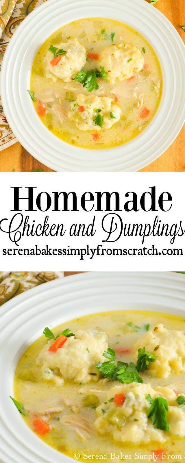 Homemade Chicken And Dumplings  Homemade Chicken and Dumplings