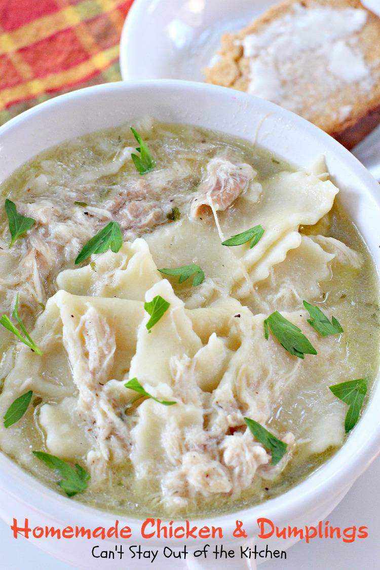 Homemade Chicken And Dumplings  Homemade Chicken and Dumplings Can t Stay Out of the Kitchen