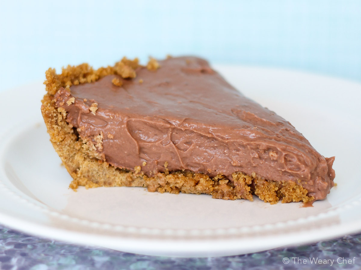 Homemade Chocolate Pie  Easy Chocolate Pie Recipe with Pudding and Cream Cheese