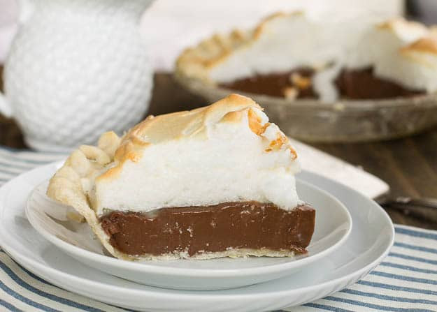 Homemade Chocolate Pie  Old Fashioned Chocolate Meringue Pie Spicy Southern Kitchen