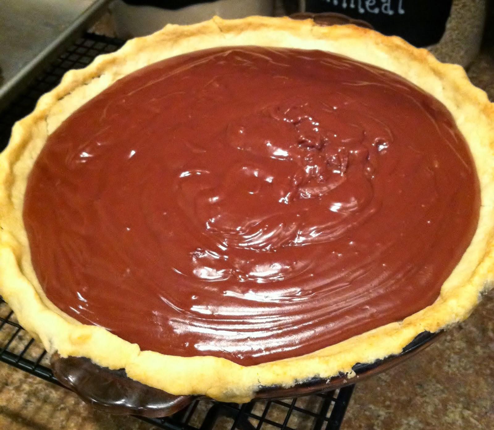 Homemade Chocolate Pie  Natural Homemade Living Homemade Chocolate Pie