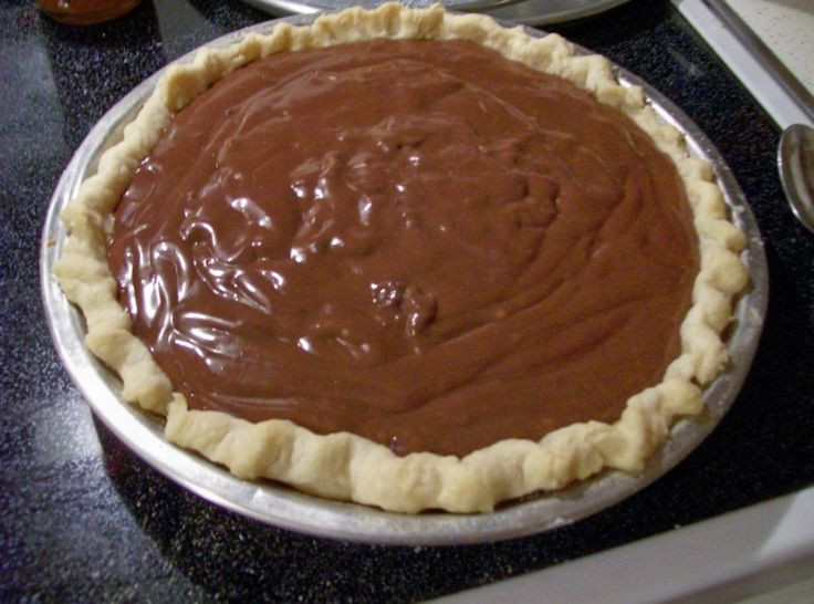 Homemade Chocolate Pie  ALL TIME FAVORITE Chocolate Pudding and Pie Filling