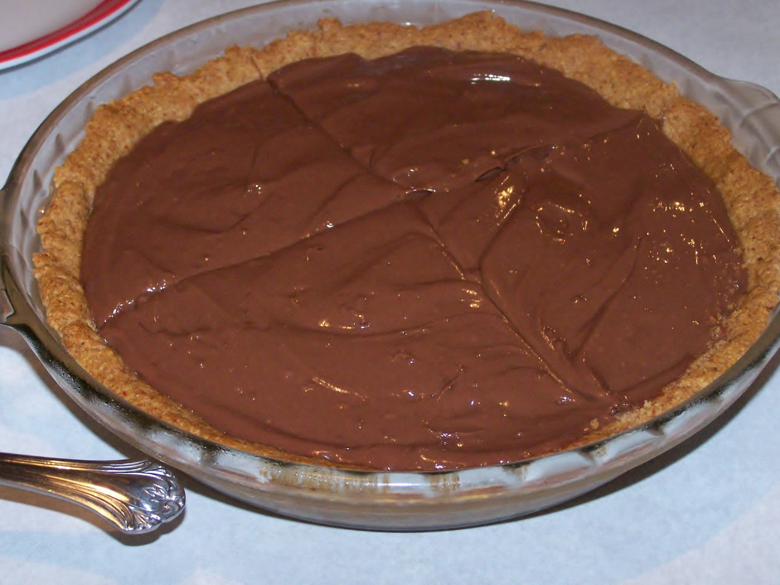 "Homemade Chocolate Pie  Homemade Gluten Free ""Instant"" Chocolate Pudding Pie low"
