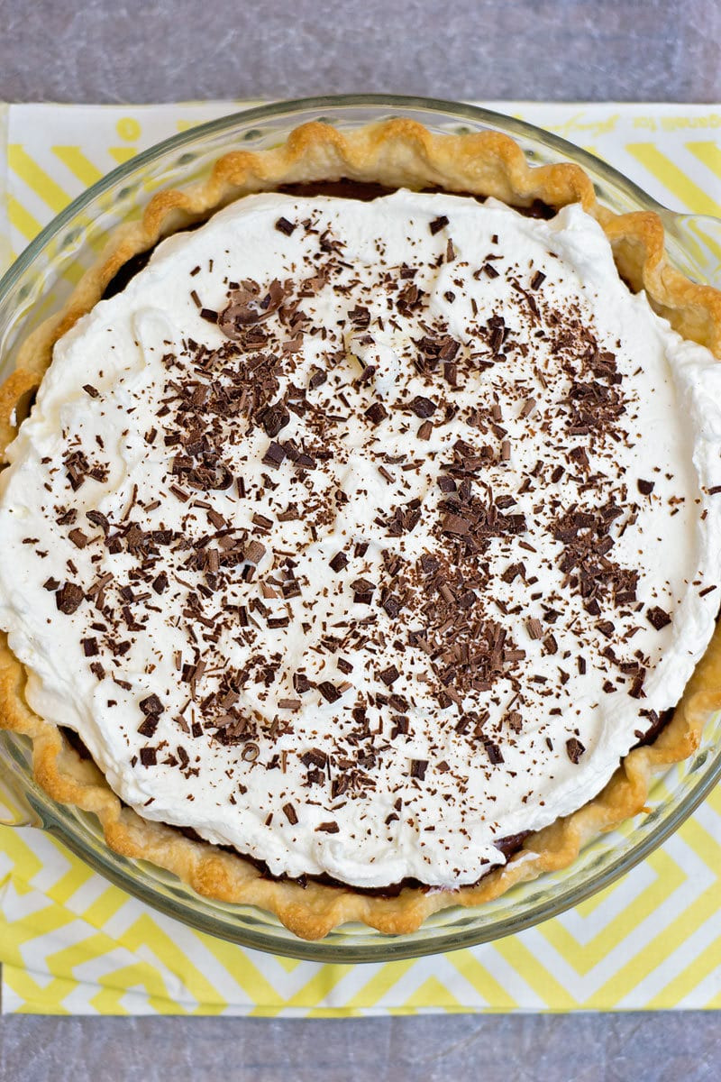 Homemade Chocolate Pie  Homemade Chocolate Cream Pie Recipe Scattered Thoughts
