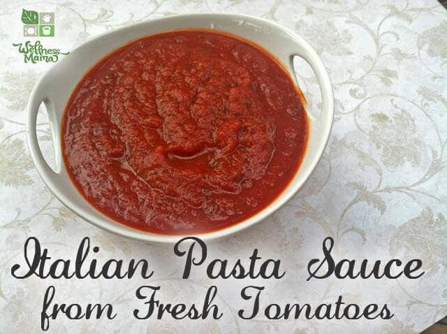 Homemade Pasta Sauce Recipe  Authentic Homemade Pasta Sauce Fresh or Canned Tomatoes