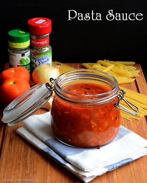 Homemade Pasta Sauce Recipe  HOMEMADE PASTA SAUCE RECIPE Raks Kitchen