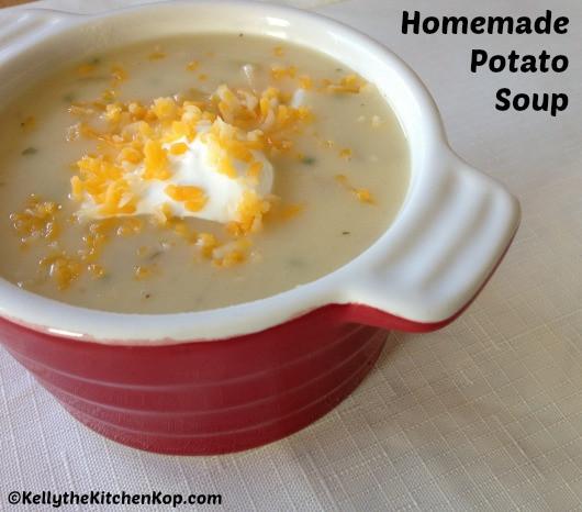 Homemade Potato Soup Recipe  Homemade Organic Potato Soup Recipe With Sour Cream and
