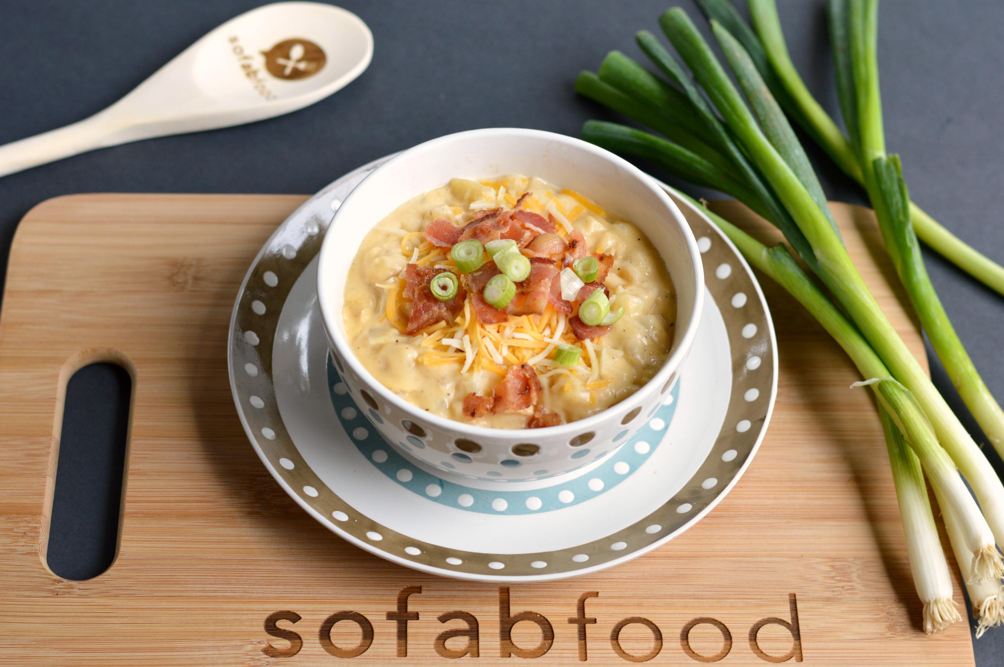 Homemade Potato Soup Recipe  Homemade Potato Soup Recipe from Scratch SoFabFood