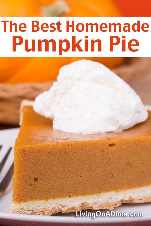 Homemade Pumpkin Pie Recipe  16 The BEST Pumpkin Recipes Living on a Dime