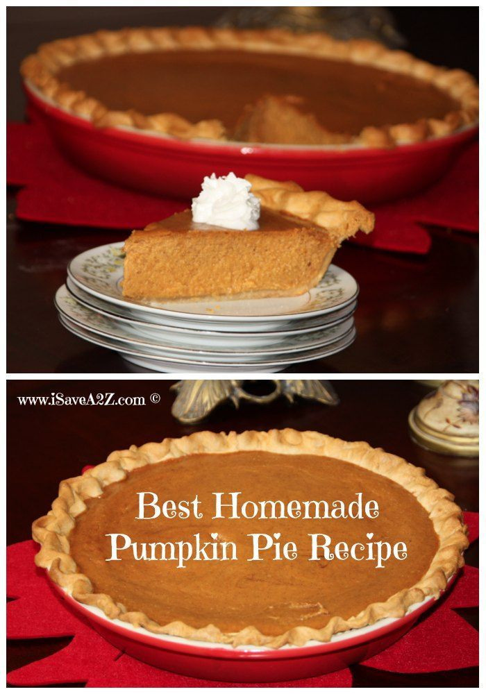 Homemade Pumpkin Pie Recipe  Here is the best homemade pumpkin pie recipe you will ever