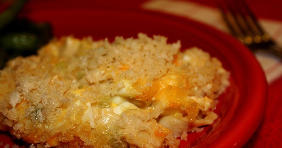 Hot Chicken Salad Casserole  Deep South Dish Hot Chicken Salad Casserole