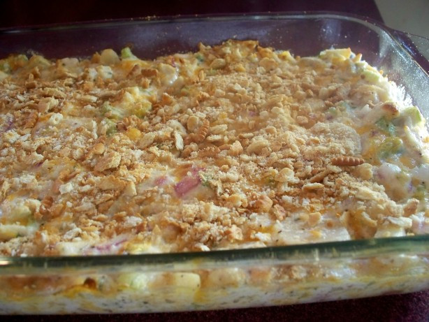 Hot Chicken Salad Casserole  Cheesy Hot Chicken Salad Casserole Recipe Food