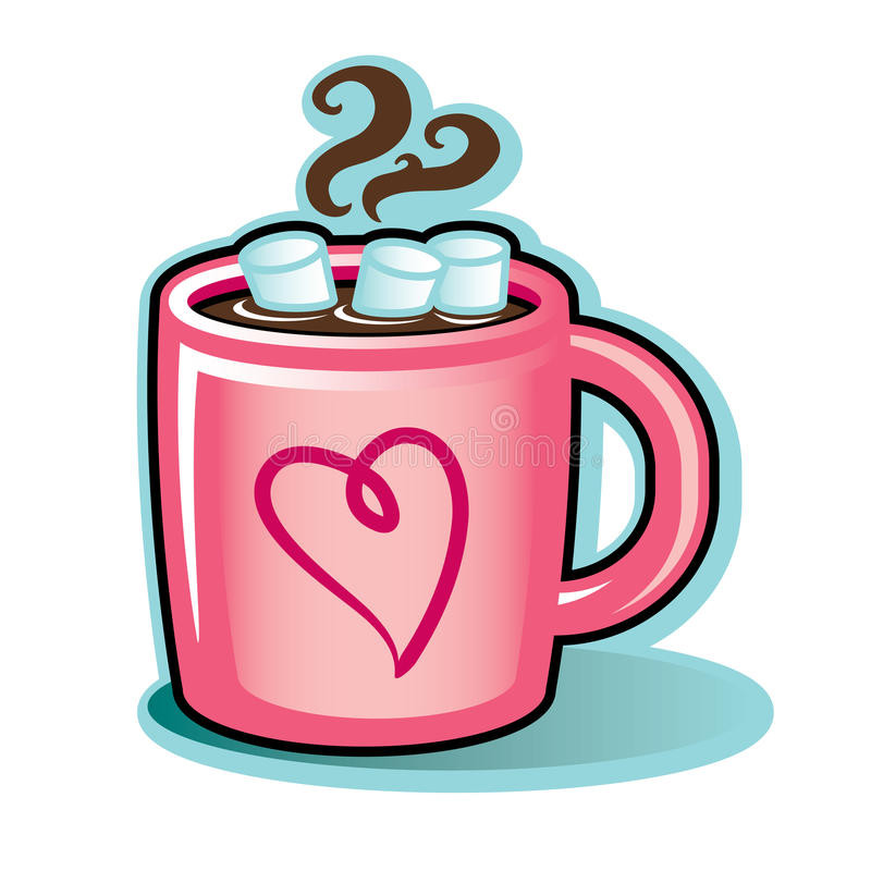 Hot Chocolate Clipart  Valentine Heart Mug With Hot Cocoa Chocolate And