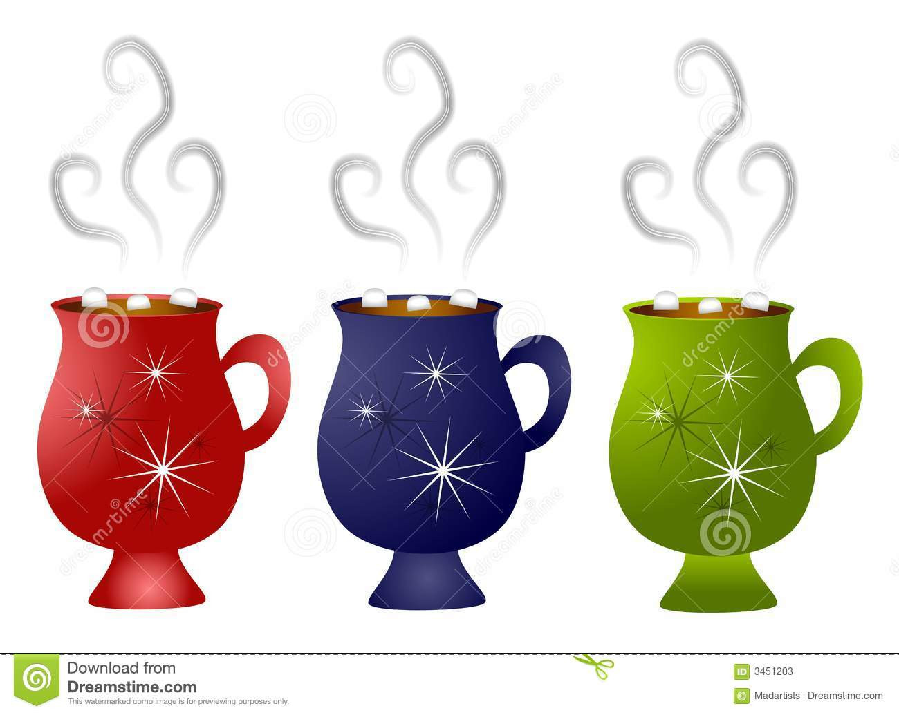 Hot Chocolate Clipart  Christmas Hot Chocolate Mugs Stock Illustration