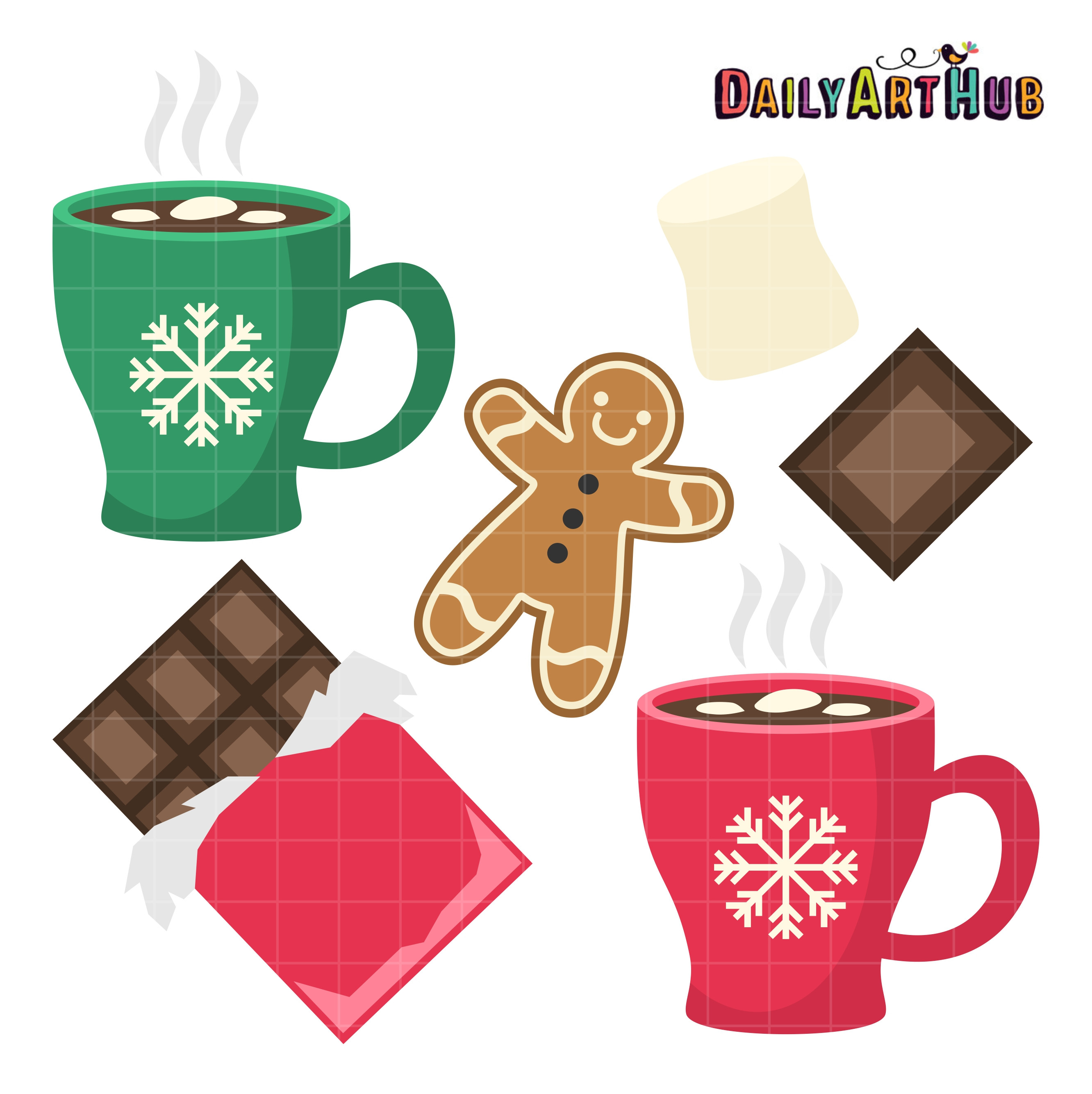 Hot Chocolate Clipart  Hot Chocolate Clip Art Set