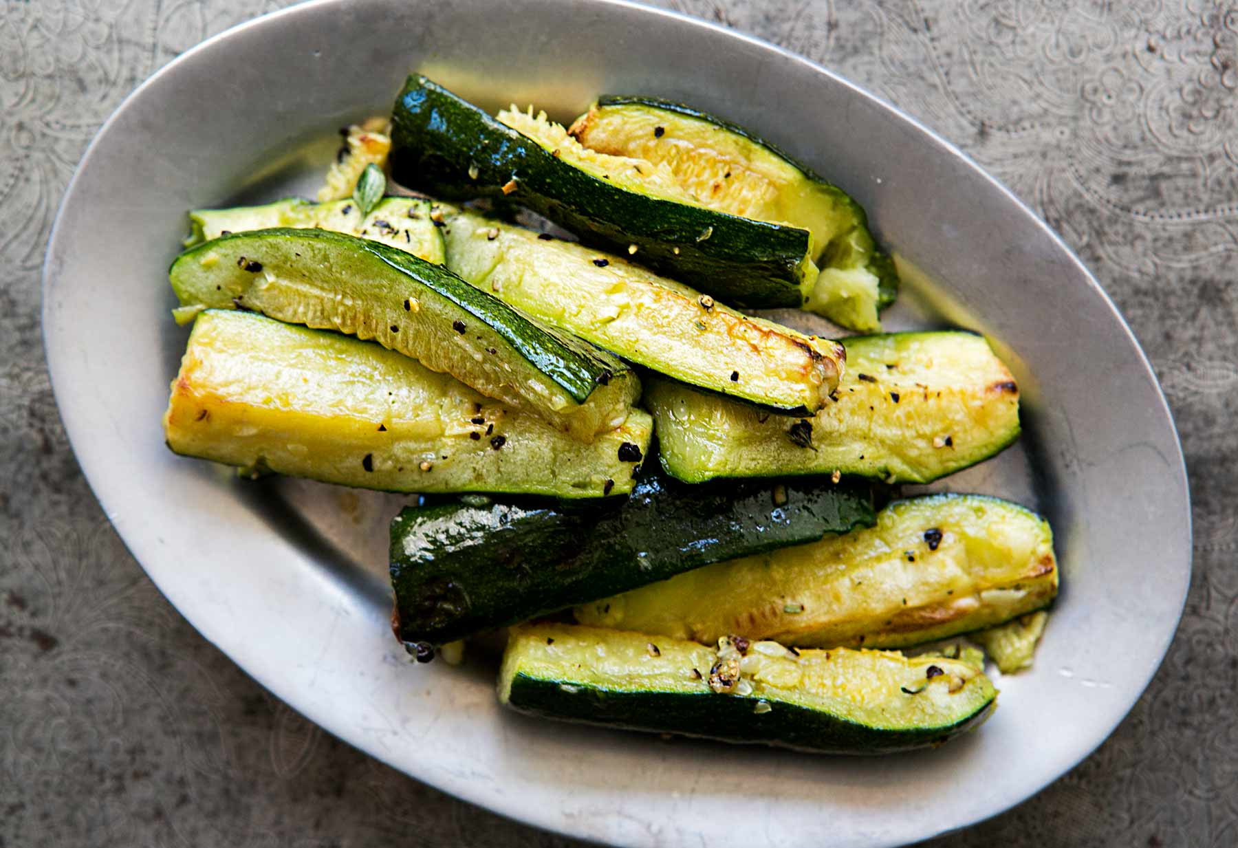 How Long To Grill Zucchini Roasted Zucchini with Garlic Recipe