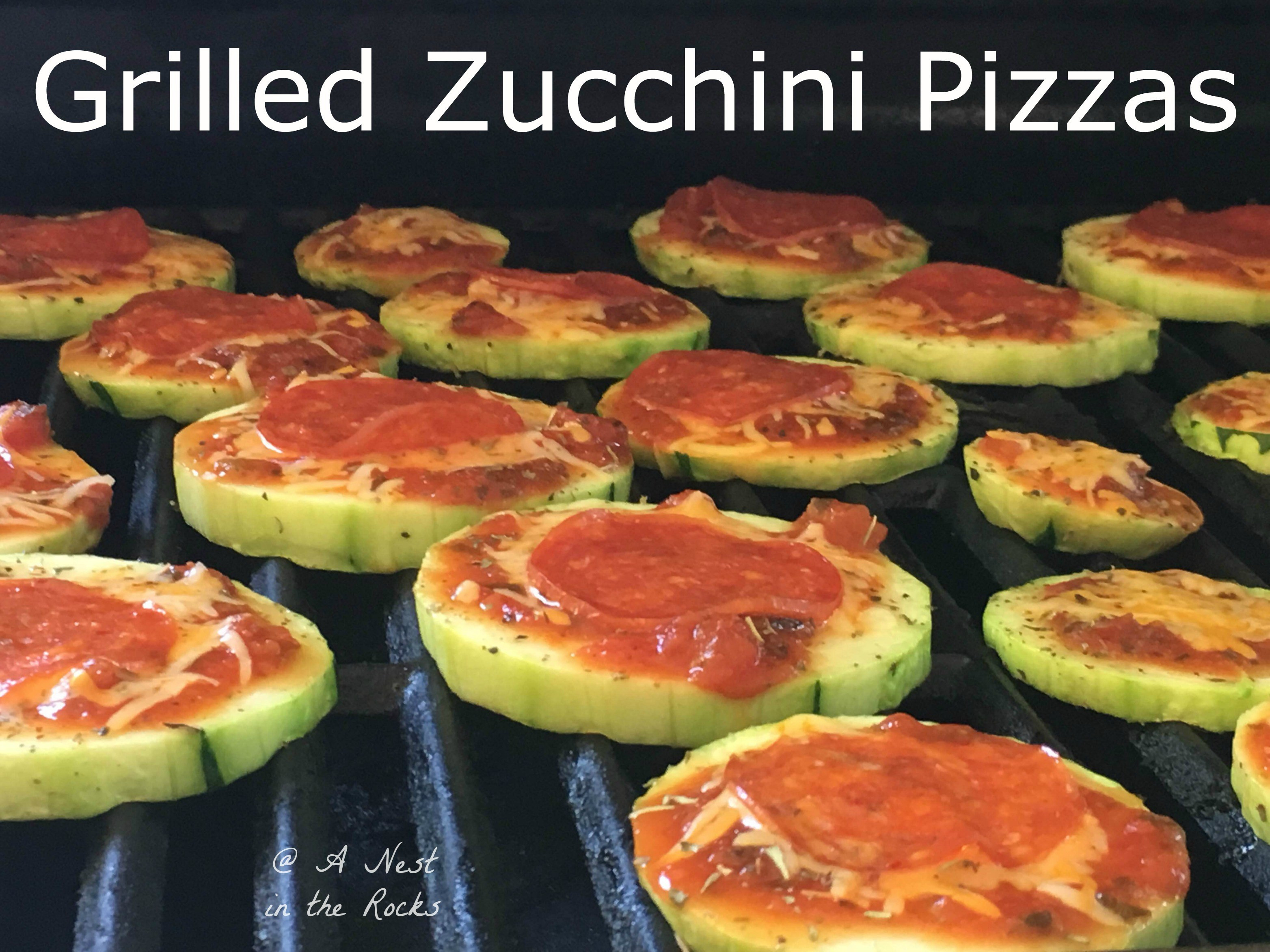 How Long To Grill Zucchini Grilled Zucchini Pizza A Nest in the Rocks