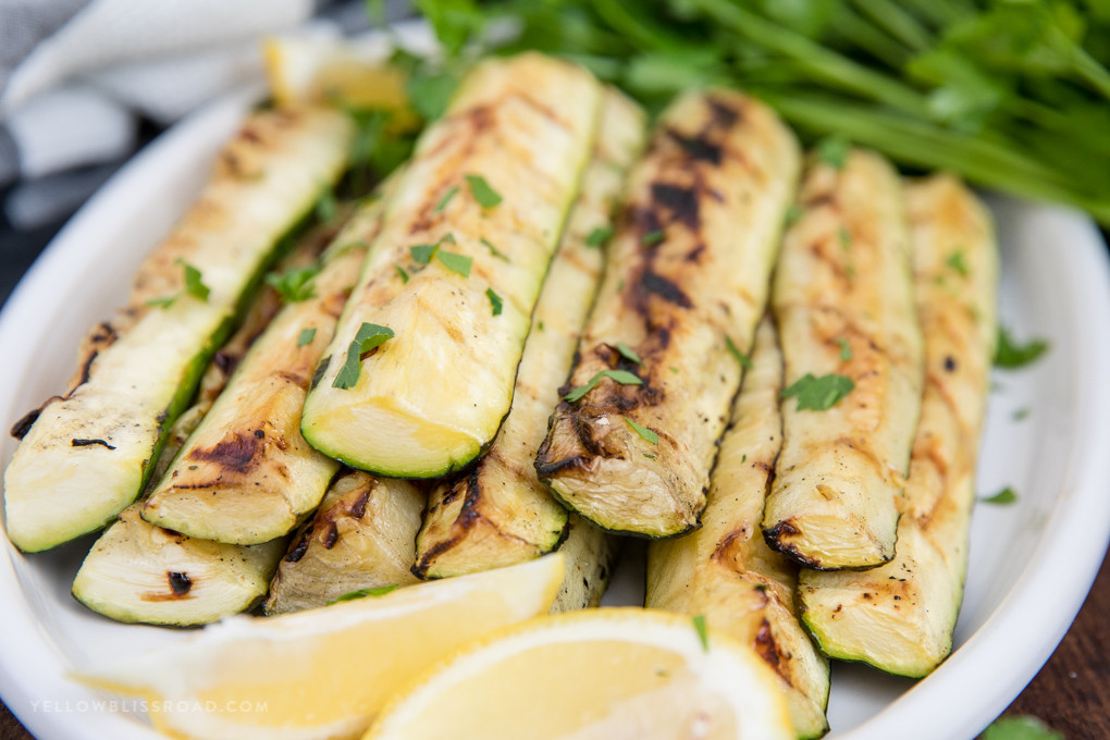 How Long To Grill Zucchini Grilled Zucchini Recipe with Lemon and Olive Oil