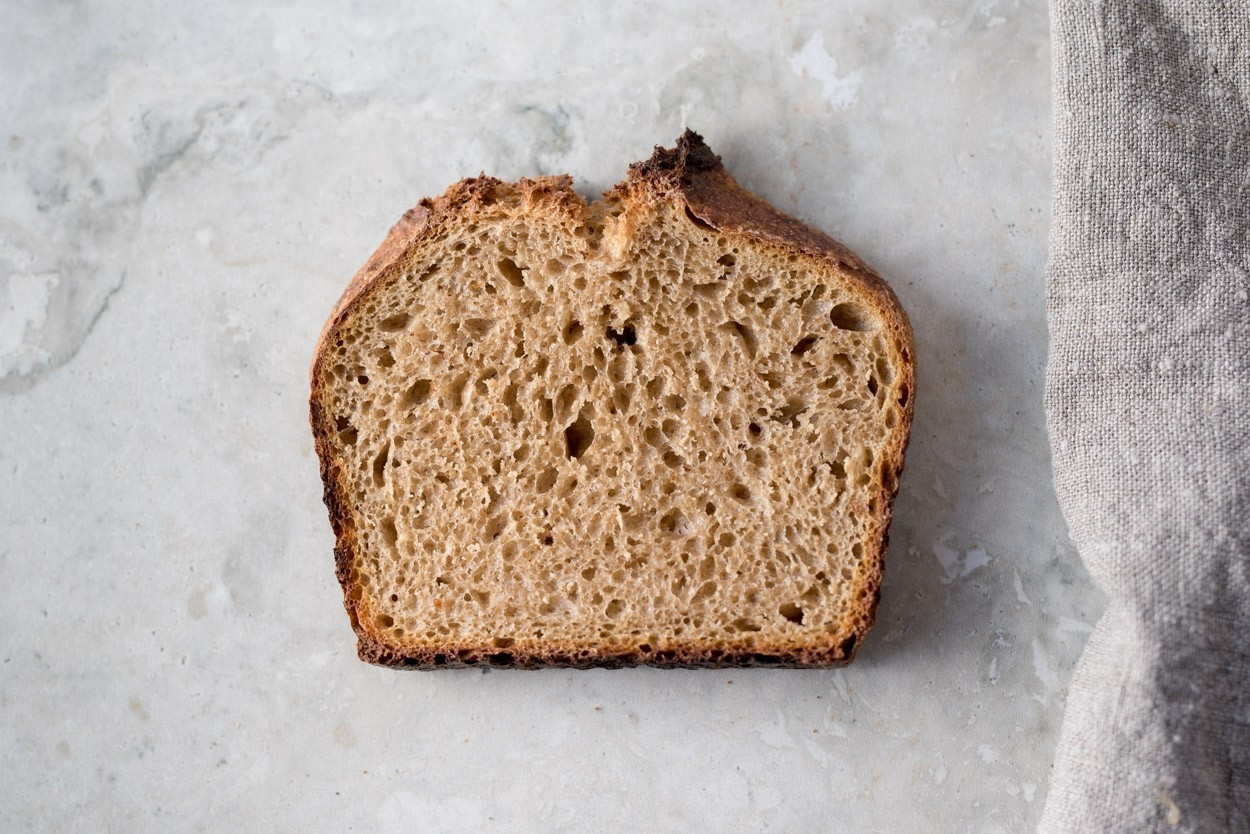 How Many Calories In A Slice Of White Bread  calories in whole wheat sourdough bread slice