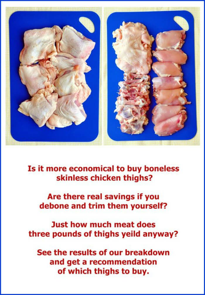 How Many Chicken Thighs In A Pound  Deboning Chicken Thighs Cheaper to do it yourself The