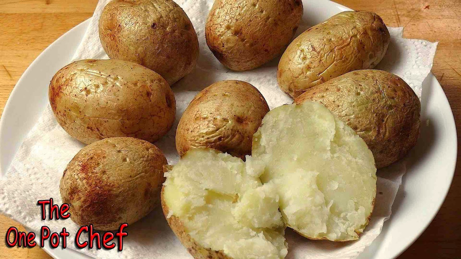 How To Bake A Potato In A Microwave  The e Pot Chef Show Quick Tips Microwave Baked Potatoes